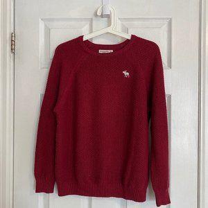 Abercrombie Kids Red Waffle-Knit Sweater